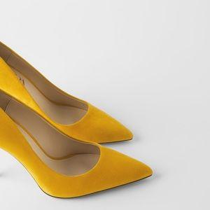 Zara suede  heels shoes